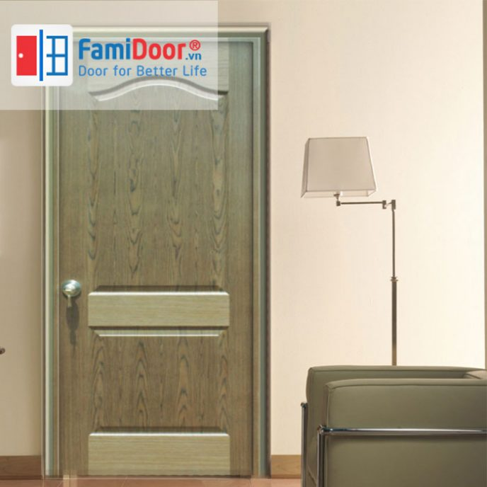 CỬA GỖ HDF VENEER 3A – WALNUT ở Showroom Famidoor 0818.400.400