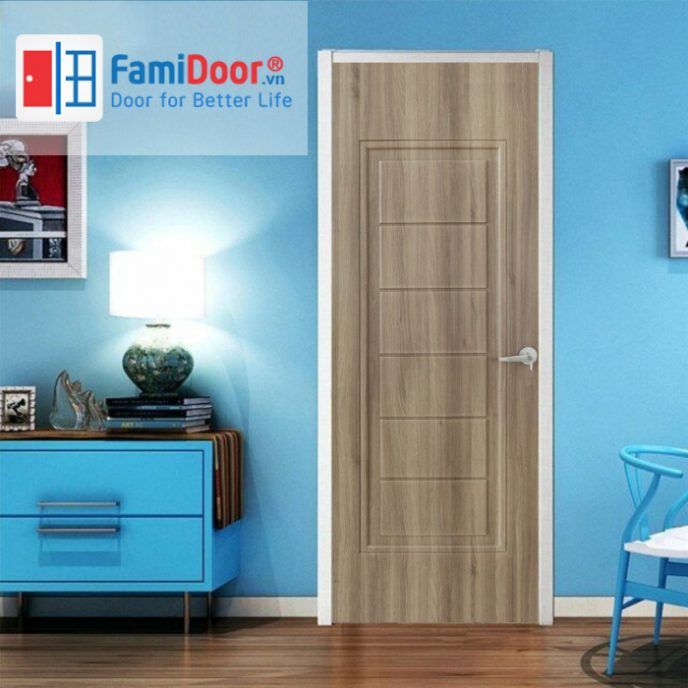 Cửa nhựa Composite 02 ở Showroom Famidoor 0818.400.400