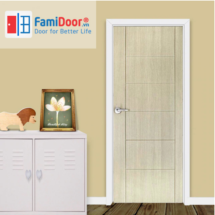 Cửa nhựa Composite 07 ở Showroom Famidoor 0828.400.400