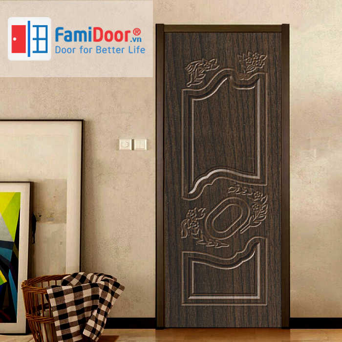 Cửa nhựa Composite SYB.329 ở Showroom Famidoor 0824.400.400